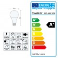 Leuchtmittel LED E27 A80 MILK SMD 18W 1600lm Tageslicht