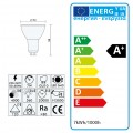 1x Einbauspot SET LED 230V IP44 RIK.5 chrom GU10 7W neutralweiss
