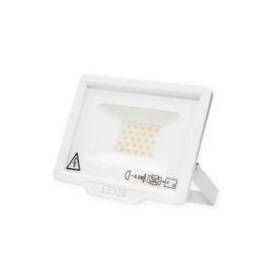 LED Floodlight Strahler 20W 230V IP65 MH warmweiss weiss