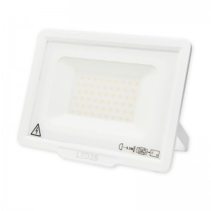 LED Floodlight Strahler 50W 230V IP65 MH warmweiss weiss