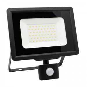 LED Floodlight Strahler 50W 230V IP65 XENO neutralweiss mit Sensor