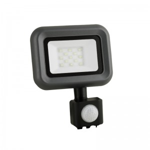 LED Floodlight Strahler 10W 230V IP65 HELI neutralweiss mit Sensor
