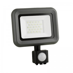 LED Floodlight Strahler 20W 230V IP65 HELI neutralweiss mit Sensor