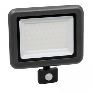 LED Floodlight Strahler 50W 230V IP65 HELI neutralweiss mit Sensor