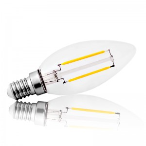 Leuchtmittel LED Filament E14 C35 Kerze 2W=25W 210lm warmweiss