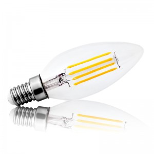 Leuchtmittel LED Filament E14 C35 Kerze 4W=40W 430lm warmweiss