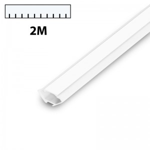 LED Eckprofil PVC 2m weiss milch CORNER weiss