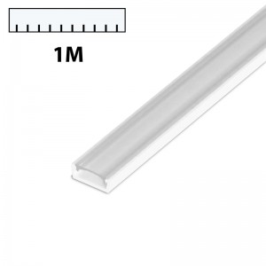LED Profil PVC 1m transparent SLIM weiss