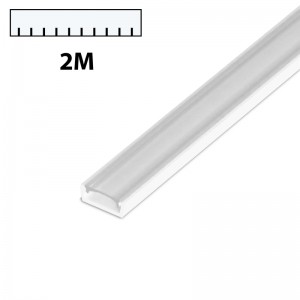 LED Profil PVC 2m transparent SLIM weiss