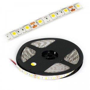 LED Strip 3x5050 / 5cm IP65 5m Rolle / 72W kaltweiss