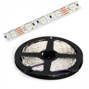 LED Strip 3x5050 / 10cm IP20 5m Rolle / 72W RGB
