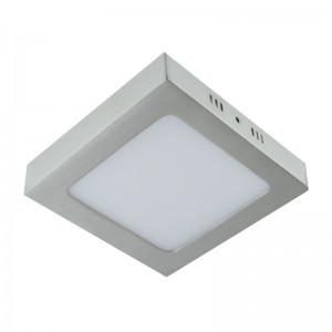 Aufbaupanel LED 12W 230V MORIN eckig nickel matt