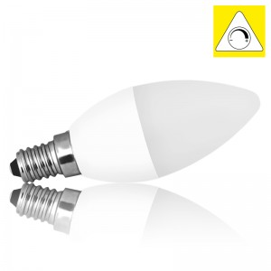 Leuchtmittel LED E14 C37 MILK SMD 6W warmweiss dimmbar