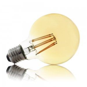 Leuchtmittel LED Filament E27 G80 8W AMBER warmweiss