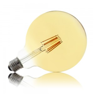 Leuchtmittel LED Filament E27 G125 8W AMBER warmweiss