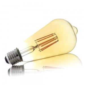 Leuchtmittel LED Filament E27 ST64 8W AMBER warmweiss