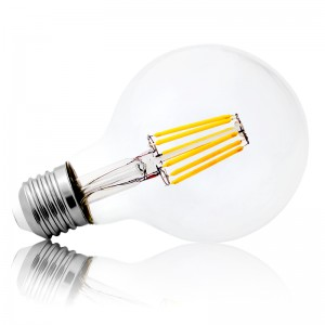 Leuchtmittel LED Filament E27 G80 8W warmweiss