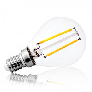 Leuchtmittel LED Filament E14 G45 2W=20W 210lm warmweiss