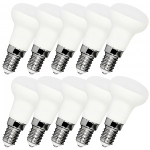 10x Leuchtmittel LED MILK E14 R39 4W warmweiss