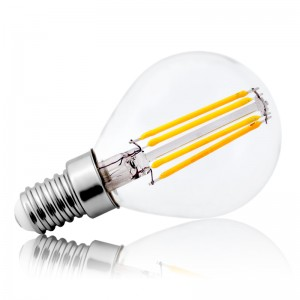 Leuchtmittel LED Filament E14 G45 4W=40W 430lm warmweiss