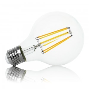 Leuchtmittel LED Filament E27 G80 12W warmweiss