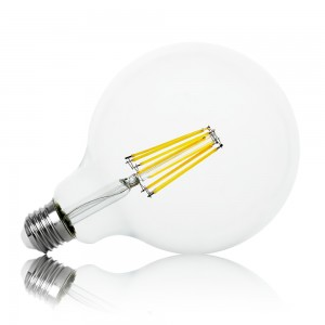 Leuchtmittel LED Filament E27 G125 12W warmweiss