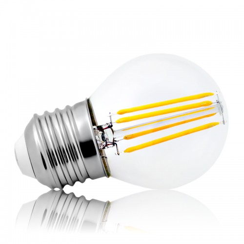 Leuchtmittel LED Filament E27 G45 4W 430lm warmweiss
