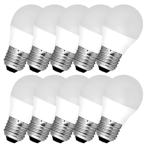 10x Leuchtmittel LED MILK E27 A60 12W warmweiss